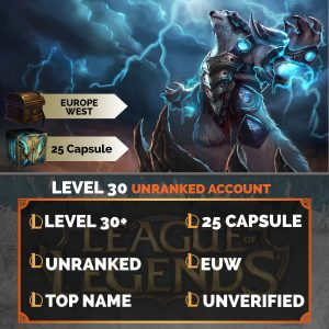 League of Legends Account 25 Capsules on server Europe West EUW